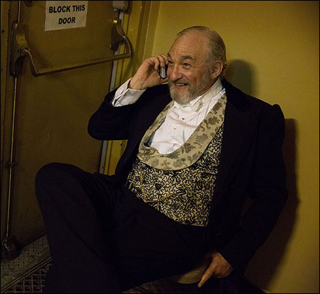 Broadway's Monsieur Firmin, Tim Jerome, makes a call and tends to life outside the theatre.