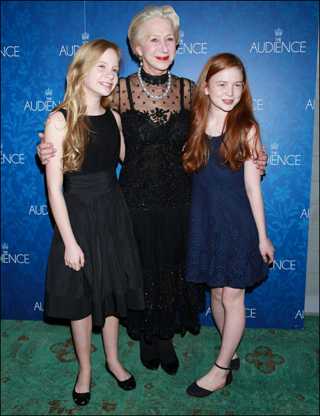 Elizabeth Teeter, Helen Mirren and Sadie Sink
