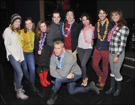 Caissie Levy, Jen Damiano, Nikki Bohne, Rob McClure, Raymond J Lee, Catherine Ricafort, Darren Criss, Brynn O'Malley and Adam Shankman