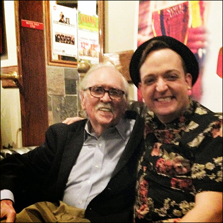 """The LEGENDARY and GENIUS Thomas Meehan and I having a bite to eat after a show. Me: """"Tom are you Camera Ready?"""" Tom: """"I'm always Camera Ready."""" AND SCENE"""