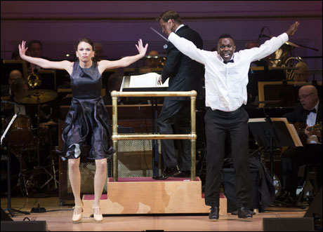 Sutton Foster and Joshua Henry