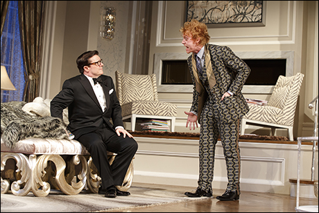 Nathan Lane and Rupert Grint in It's Only a Play