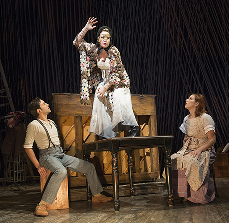 Ben Steinfeld, Jennifer Mudge and Jessie Austrian in the Roundabout revival