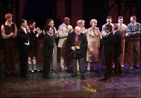 Henry Krieger, Bill Russell and Bill Condon join the cast onstage