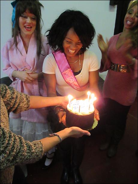 It was our dance captain Karen Burthwright's birthday!