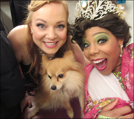 This is my break in the show – a little selfie with Soara and Remy