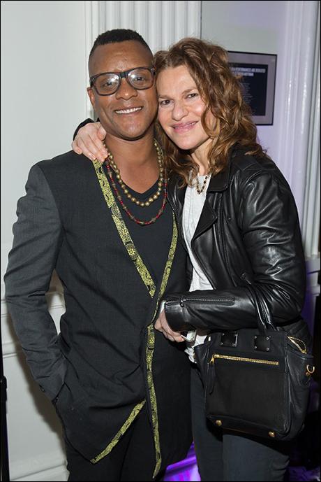 Kevin Mambo and Sandra Bernhard