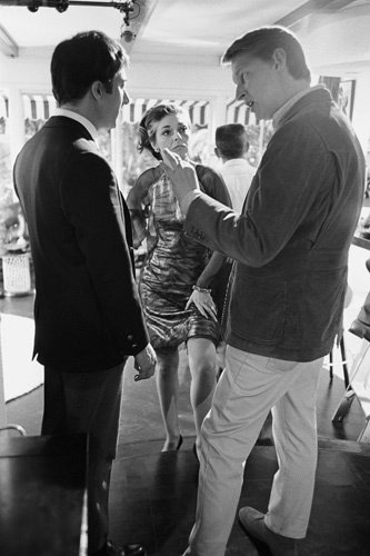"Dustin Hoffman, Anne Bancroft and Mike Nichols on the set of ""The Graduate,"" 1967"