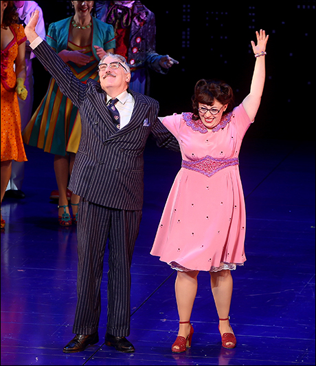 Michael Rupert and Allison Guinn on opening night of On the Town
