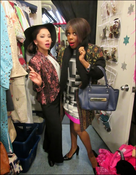 Next costume: the ladies who lunch. Love shopping onstage at Tiffany's with Tracee Beazer!