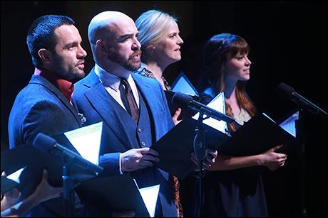 Ramin Karimloo, Eric Anderson, Katie Rose Clarke and Caitlin Houlahan