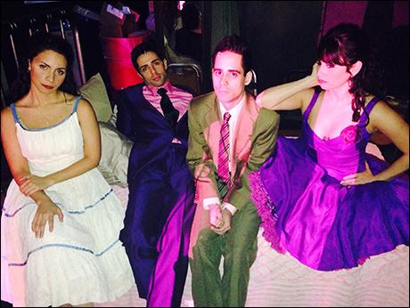 Me, Lucas Segovia (Bernardo), Tommy Rivera Vega (Chino), Michelle Aravena (Anita) patiently waiting backstage...