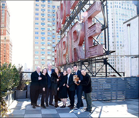 The Living on Love team on the roof of the Empire Hotel