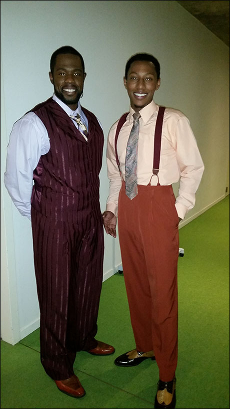 In the 1930s, Harlem, Akron Watson and Brandon Gill look sharp!
