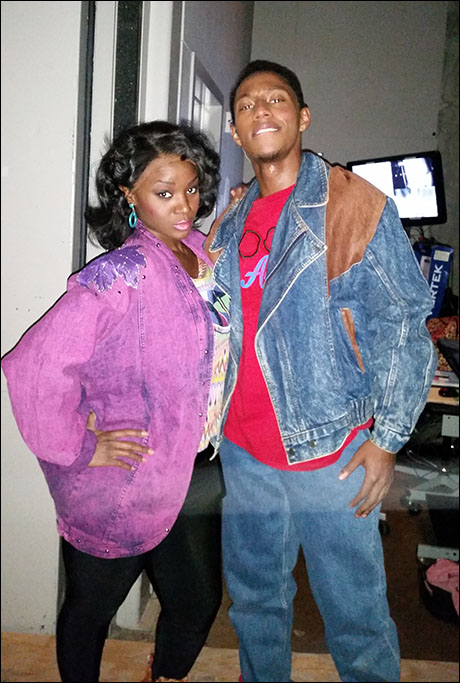 Frankie and Johnny  (Saycon Sengbloh and Brandon Gill) are ready for our 80's scene in Detroit!