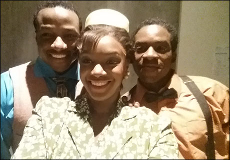 A 3 person selfie with my twin, Devin L. Roberts, myself, Saycon, and my reading buddy Tyrone Davis, Jr.