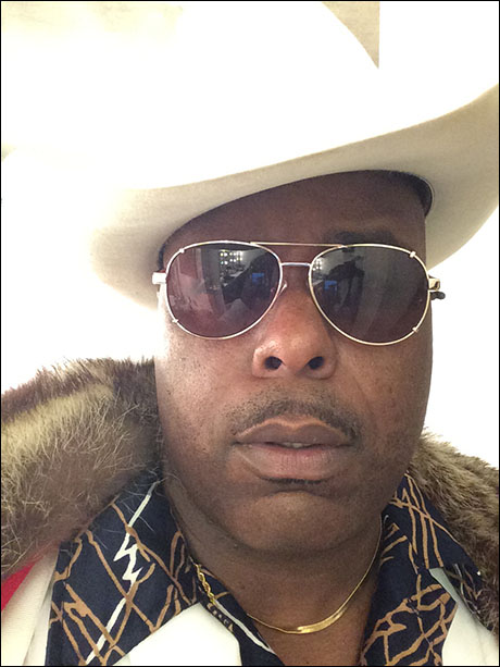 Our Stagger Lee, J. Bernard Calloway,  is rocking his stunner shades and stetson hat! Its been a blast traveling through the decades with these phenomenal people!