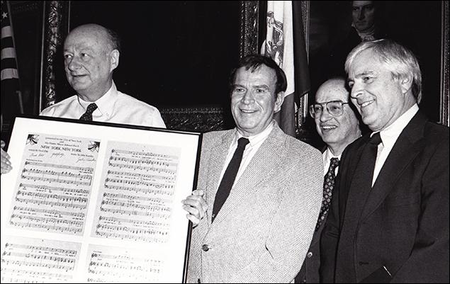 Ed Koch with Fred Ebb and John Kander