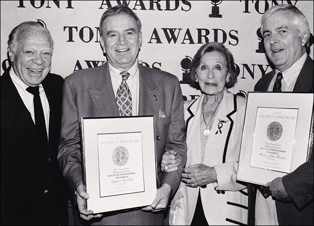Cy Feuer, Fred Ebb, Isabelle Stevenson and John Kander
