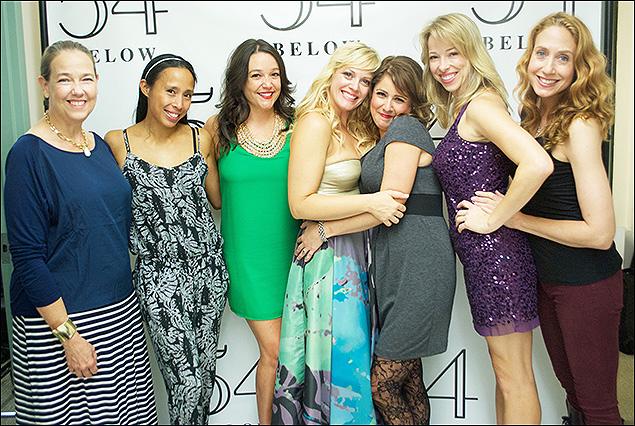 Harriet Harris, Mayumi Miguel, Cameron Adams, Elizabeth Stanley, Alli Mauzey, Lacey Kohl and Laura Jordan