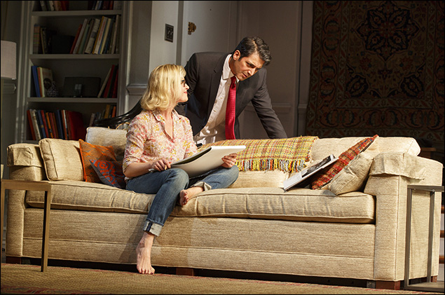 Gretchen Mol and Hari Dhillon in Disgraced, nominated for Best Play