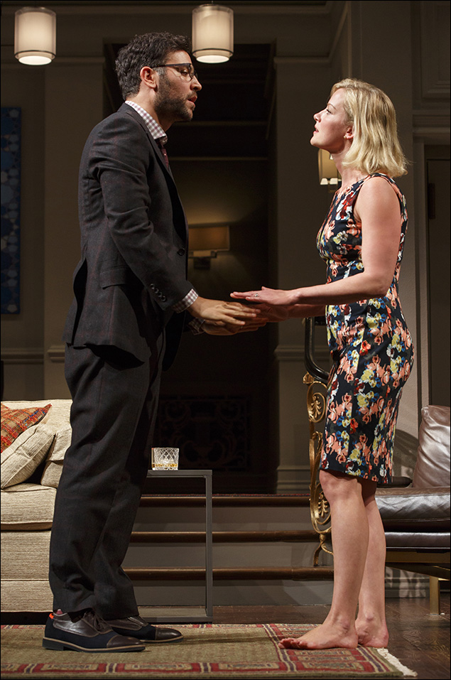 Josh Radnor and Gretchen Mol in Disgraced, nominated for Best Play