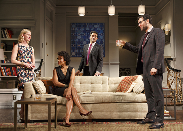 Gretchen Mol, Karen Pittman, Hari Dhillon and Josh Radnor in Disgraced, nominated for Best Play