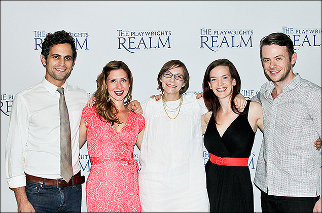 Matt Dellapina, Miriam Silverman, Anna Ziegler, director Margot Bordelon, and Nick Westrate