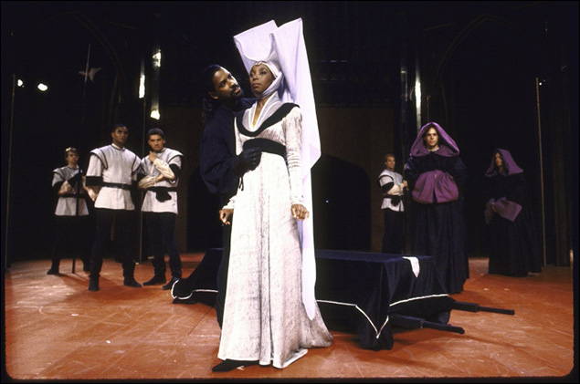 Denzel Washington and Sharon Washington in Richard III.