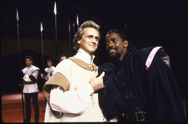 Reese Madigan and Denzel Washington in Richard III.