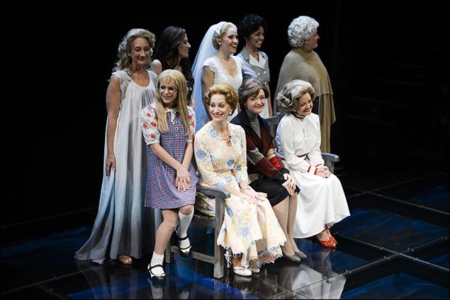 Back Row: Theresa McCarthy, Caissie Levy, Betsy Morgan, Isabel Santiago, Mary Testa Front Row: Carly Tamer, Barbara Walsh, Rachel Bay Jones, Alison Fraser