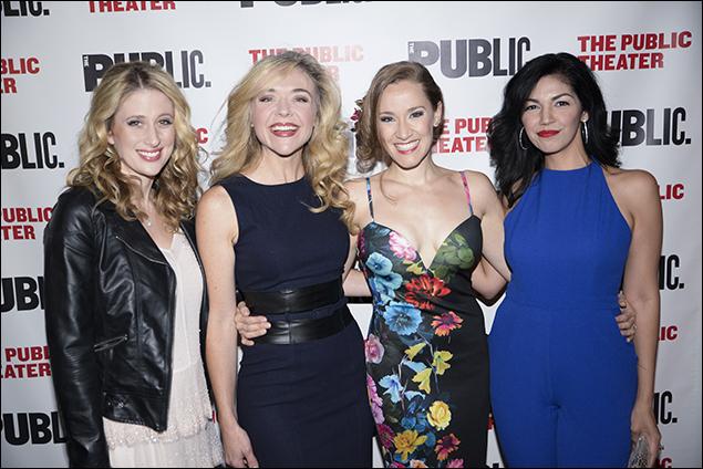 Caissie Levy, Rachel Bay Jones, Betsy Morgan and Isabel Santiago