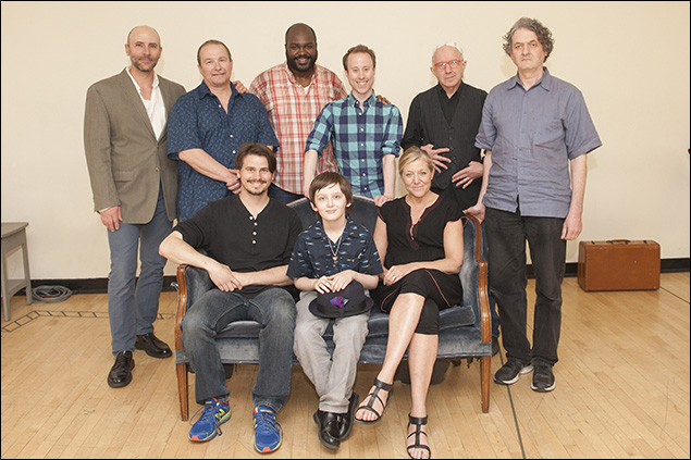 (Clockwise from top left) Jordan Lage, Jim Frangione, Dereks Thomas, Nate Dendy, Arliss Howard, director Scott Zigler, Mary McCann, Henry Kelemen, Jason Ritter