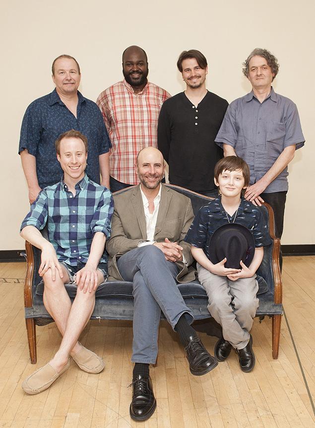 (Clockwise from top left): Jim Frangione, Dereks Thomas, Jason Ritter, director Scott Zigler, Henry Kelemen, Jordan Lage, Nate Dendy