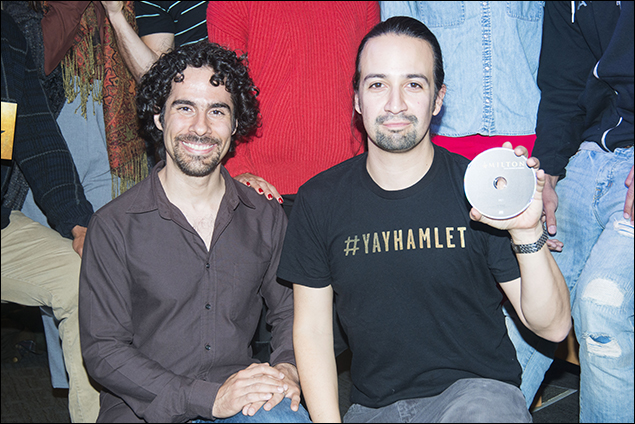 Alex Lacamoire and Lin-Manuel Miranda