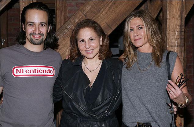 Lin-Manuel Miranda, Kathy Najimy and Jennifer Aniston