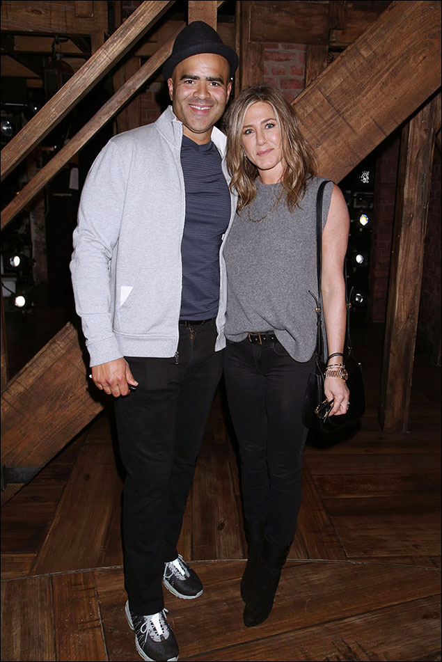 Christopher Jackson and Jennifer Aniston