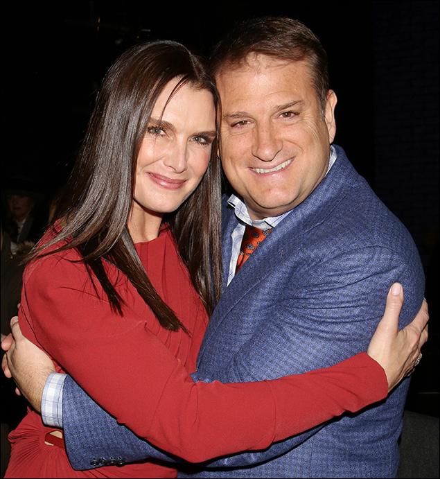 Brooke Shields and Jeff Calhoun