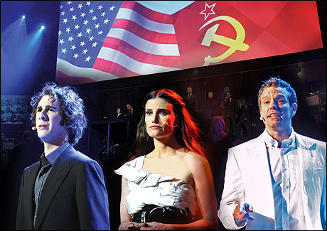 Josh Groban, Idina Menzel and Adam Pascal in Chess in Concert