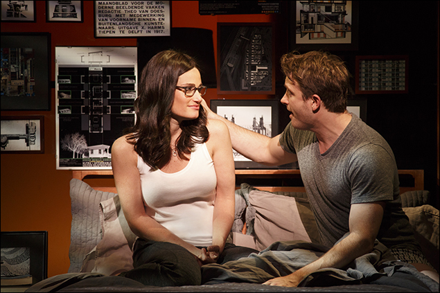 Idina Menzel and James Snyder in If/Then