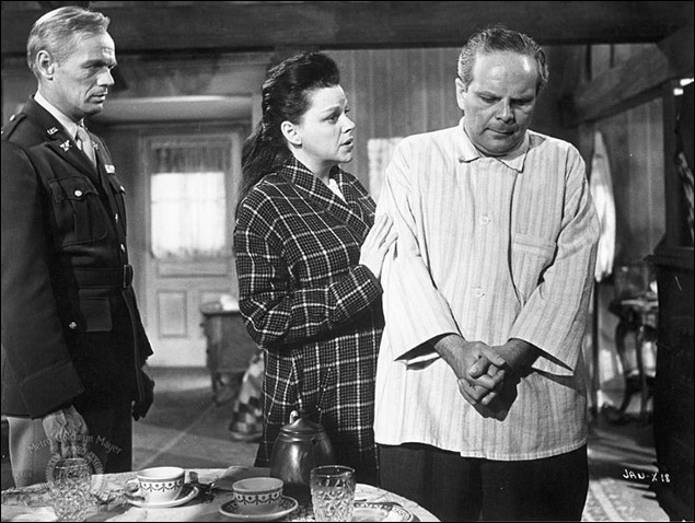 "Judy Garland and Richard Widmark in ""Judgment at Nuremberg"""