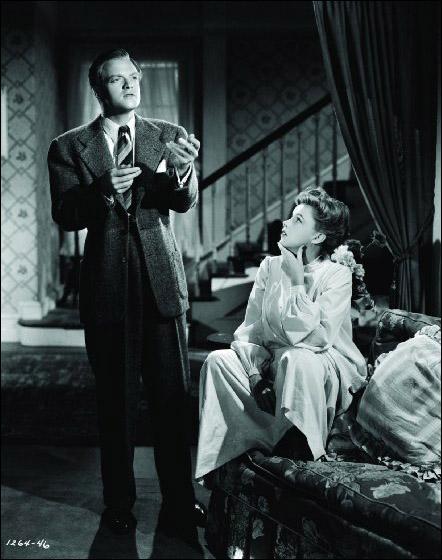 "Judy Garland and Van Heflin in ""Presenting Lily Mars"""