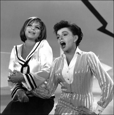 "Barbra Streisand and Judy Garland on ""The Judy Garland Show"""