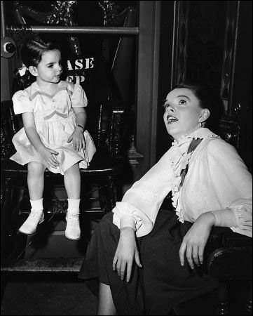 "Liza Minnelli and Judy Garland  On the set of ""In The Good Old Summertime"""