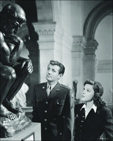"Judy Garland and Robert Walker in ""The Clock"""