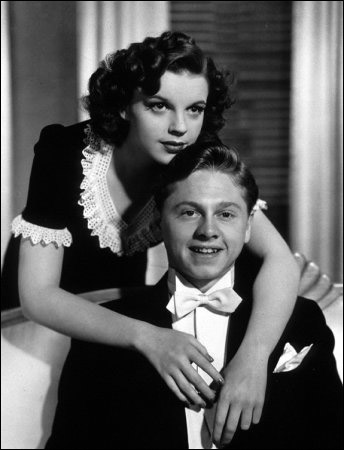 "Judy Garland and Mickey Rooney in ""Andy Hardy Meets A Debutante"""