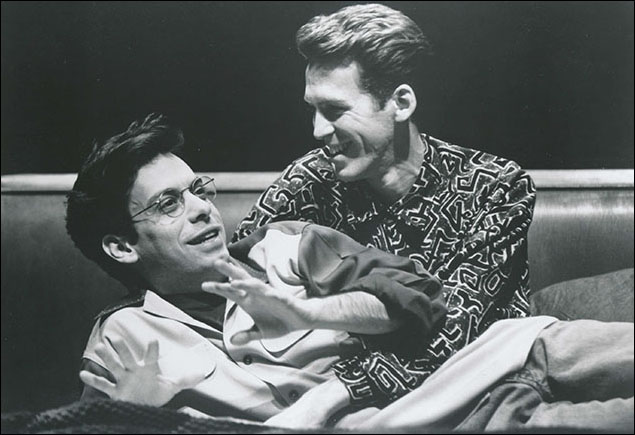 Joe Mantello and Stephen Spinella in Angels in America: Millenium Approaches