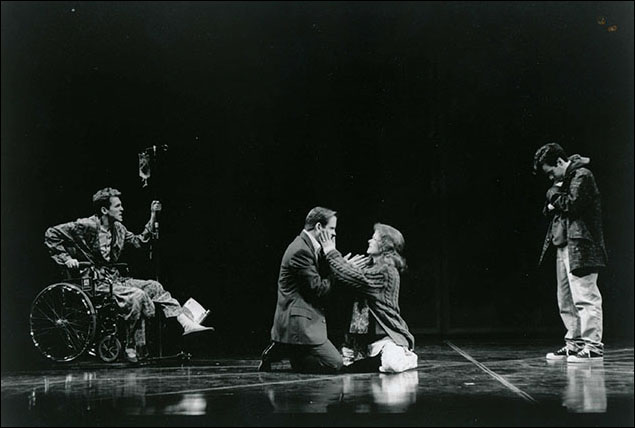 Stephen Spinella, David Marshall Grant, Marcia Gay Harden and Joe Mantello in Angels in America: Millenium Approaches