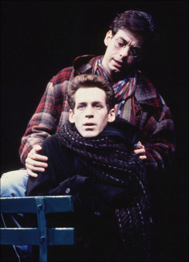 Stephen Spinella and Joe Mantello in Angels in America: Perestroika