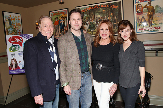 The cast of Clever Little Lies: Greg Mullavey, George Merrick, Marlo Thomas and Kate Wetherhead